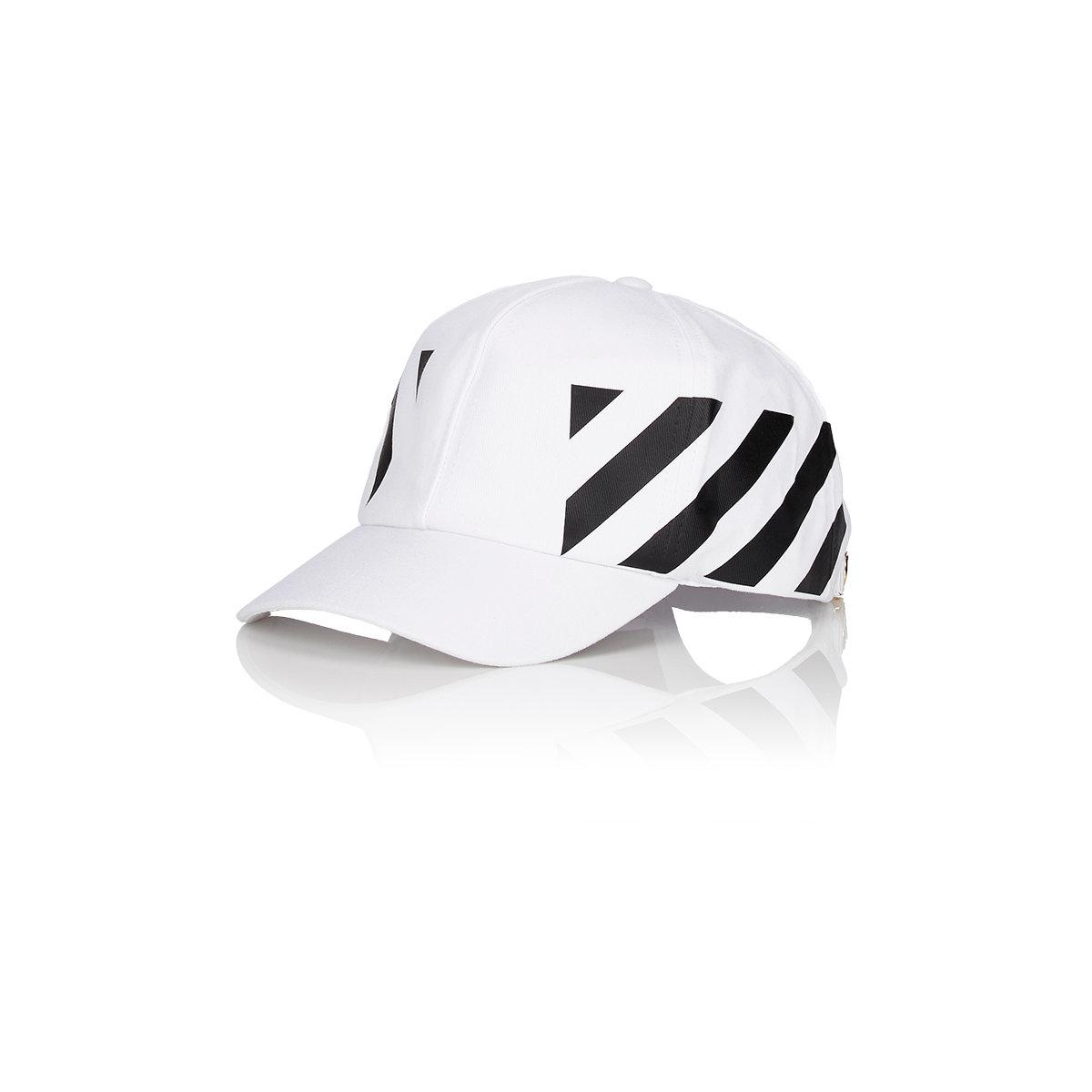 452ecbd0e494c8 Off-White c/o Virgil Abloh Striped Baseball Cap in White for Men - Lyst