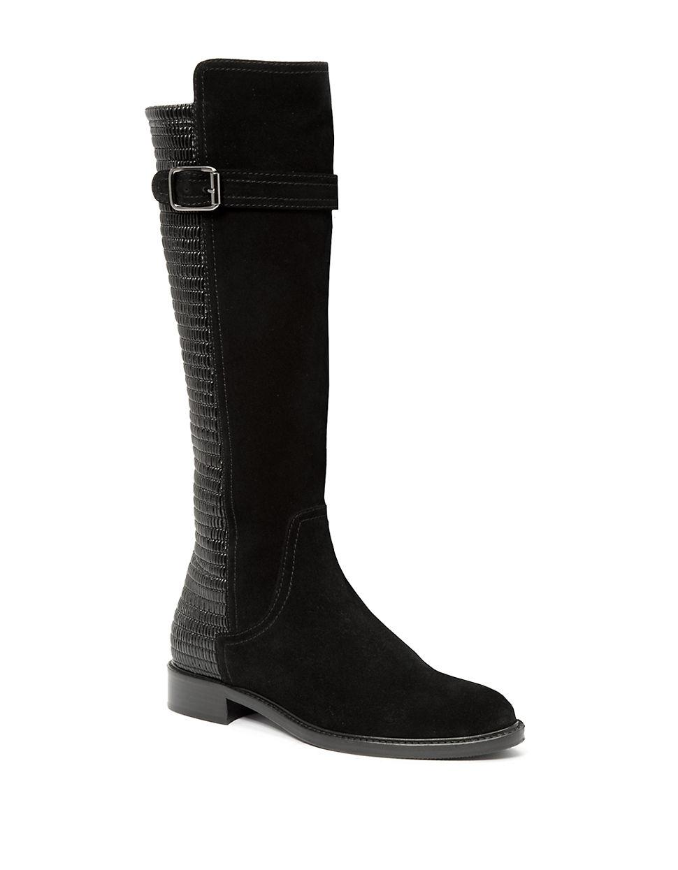 aquatalia gael suede boots in black lyst