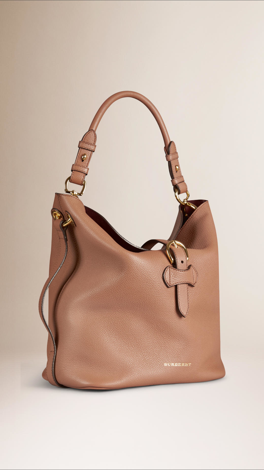 26111933953 Burberry Bartow Black Grainy Leather Hobo Bag 3764088. Gallery. Burberry  Medium Buckle Detail Leather Hobo Bag In Natural Lyst