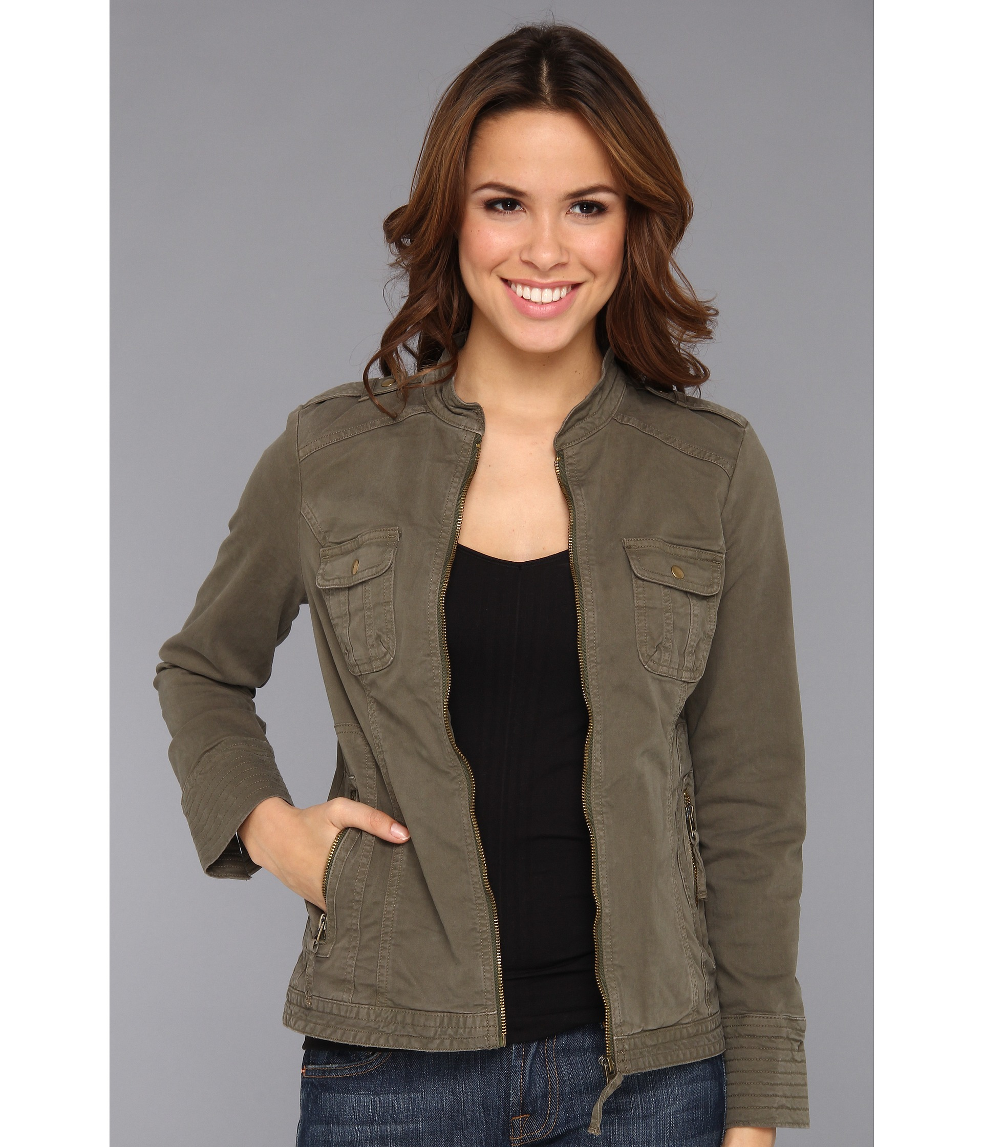 bd2d39bdd0a Lyst - Lucky Brand Military Field Jacket in Green