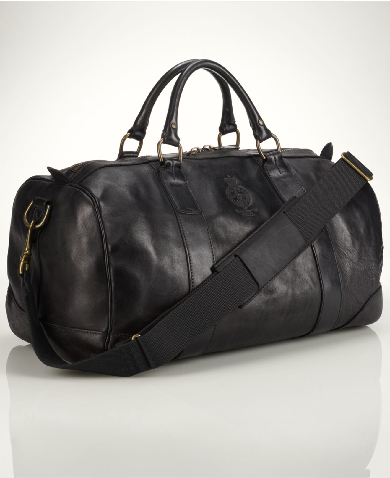 038987438f Lyst - Polo Ralph Lauren Core Leather Gym Bag in Black for Men