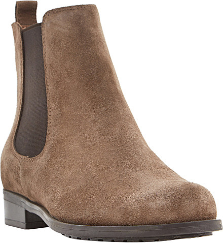 Dune Parry Suede Chelsea Boots in Brown | Lyst