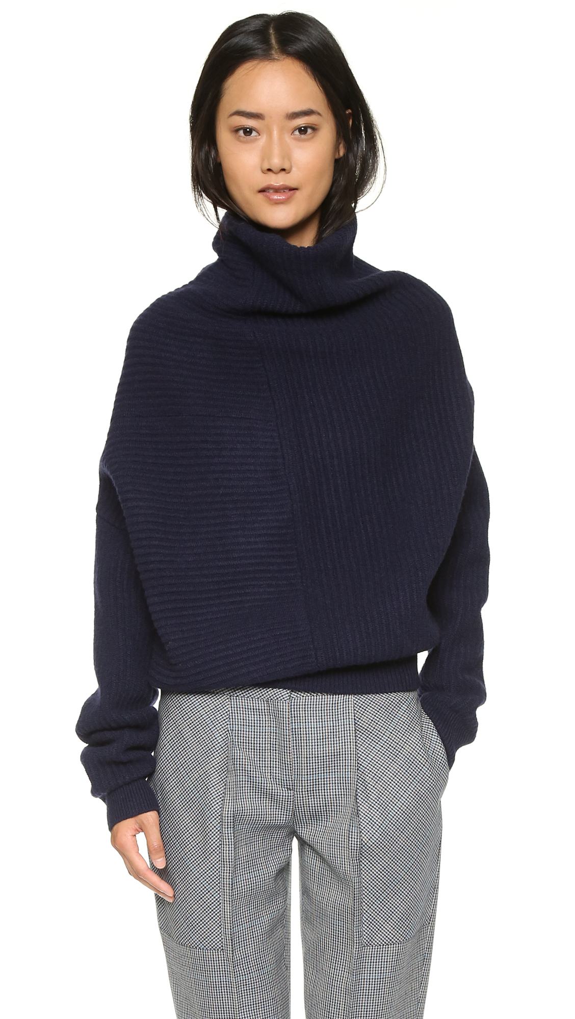 Acne studios Jacy L Ribbed Sweater - Dark Navy in Blue | Lyst