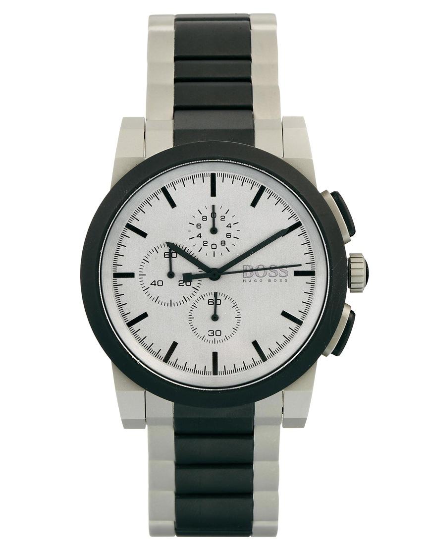 hugo boss architectural steel bracelet strap chronograph. Black Bedroom Furniture Sets. Home Design Ideas