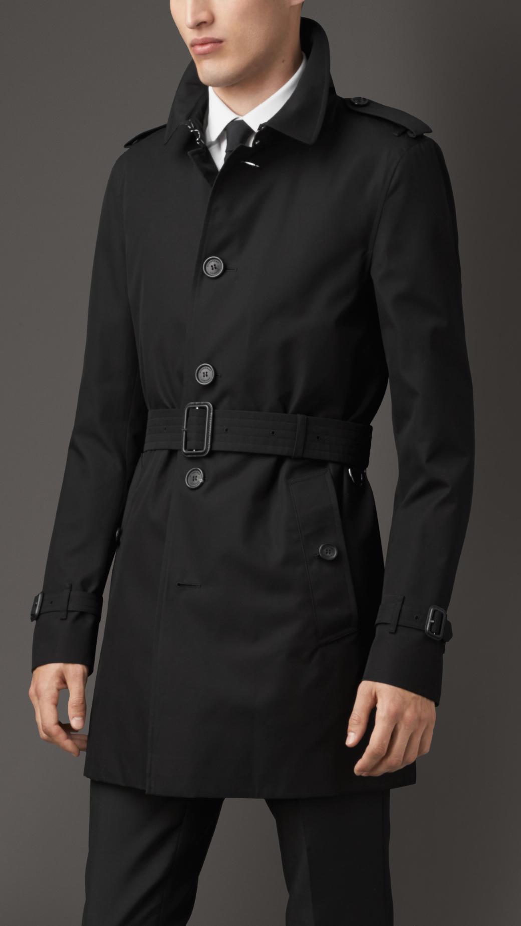 4048108cb18e Mens Black Burberry Trench Coat