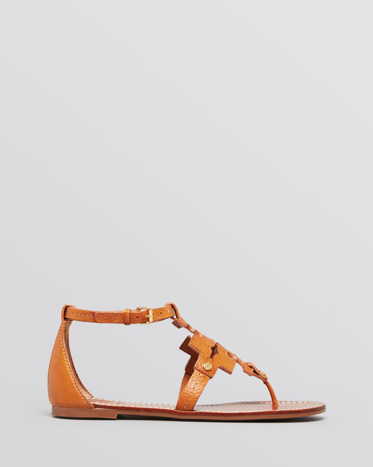 673066462e20 Lyst - Tory Burch Flat Thong Sandals - Phoebe in Brown