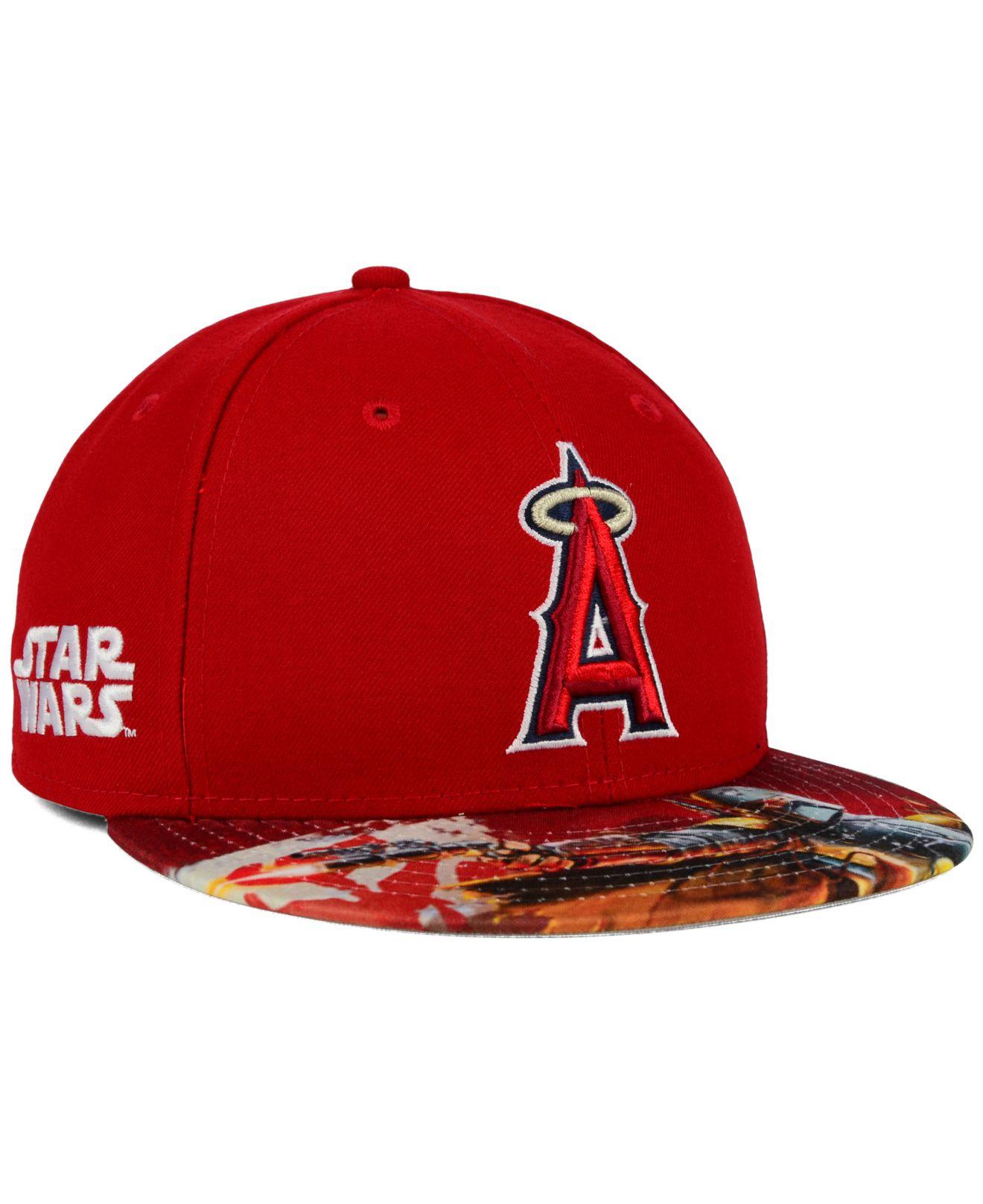 uk availability 5ae2e 9e374 KTZ Los Angeles Angels Of Anaheim Mlb X Star Wars Viza Print 59fifty ...