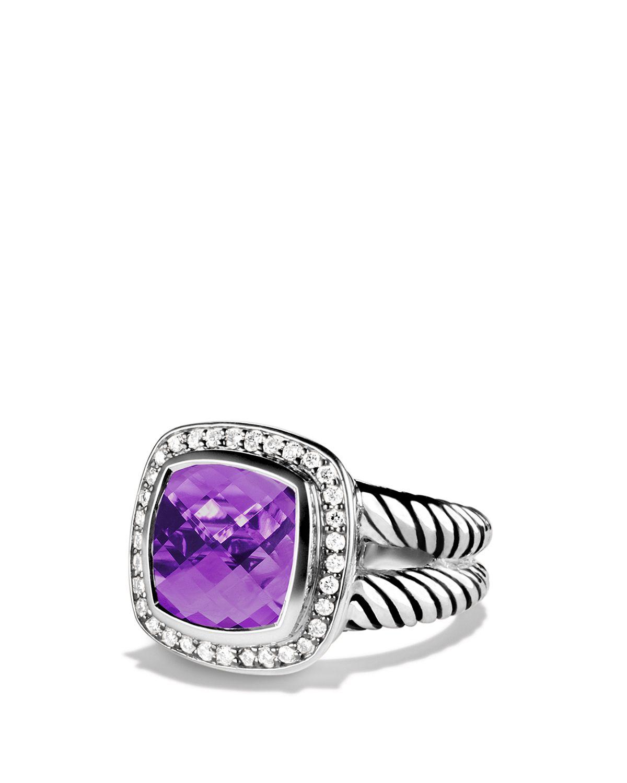 W  Jewelry Ring Amethyst With Diamonds
