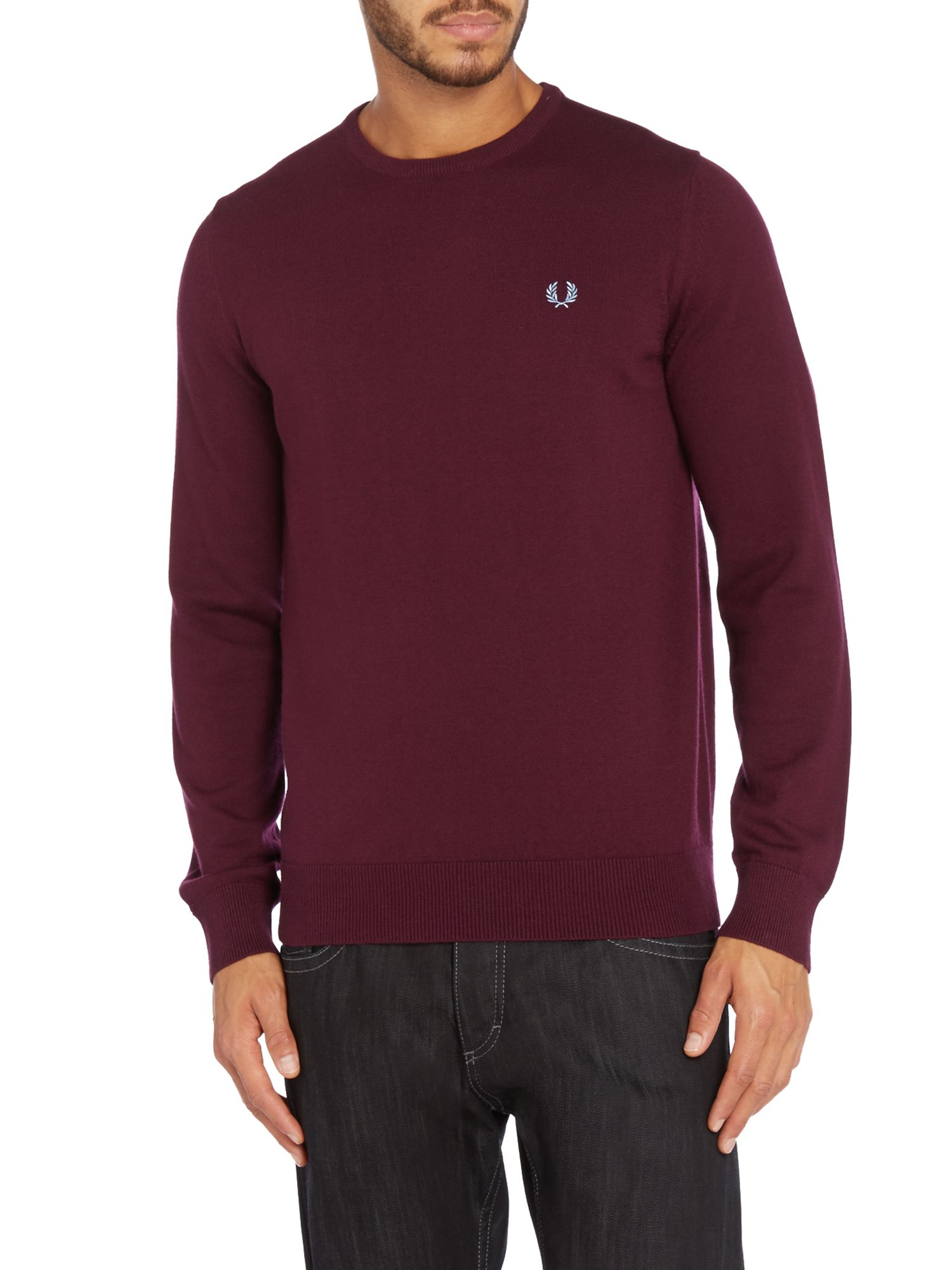 Fred Perry Merino Crew Neck Knit - Navy