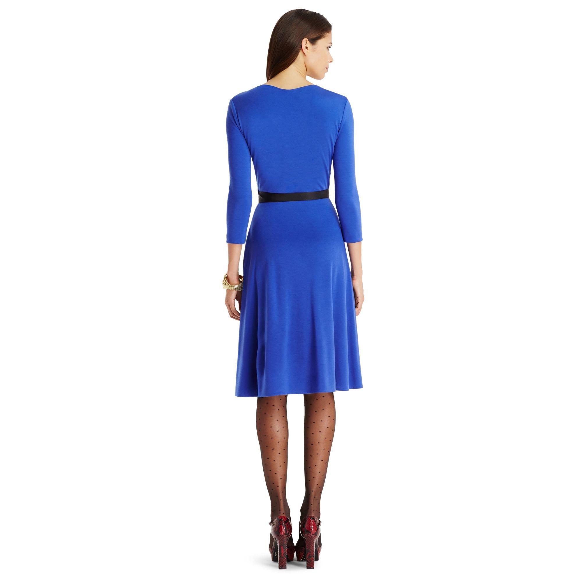 8559899afeb2 Diane von Furstenberg Dvf Seduction Wool Wrap Dress in Blue - Lyst