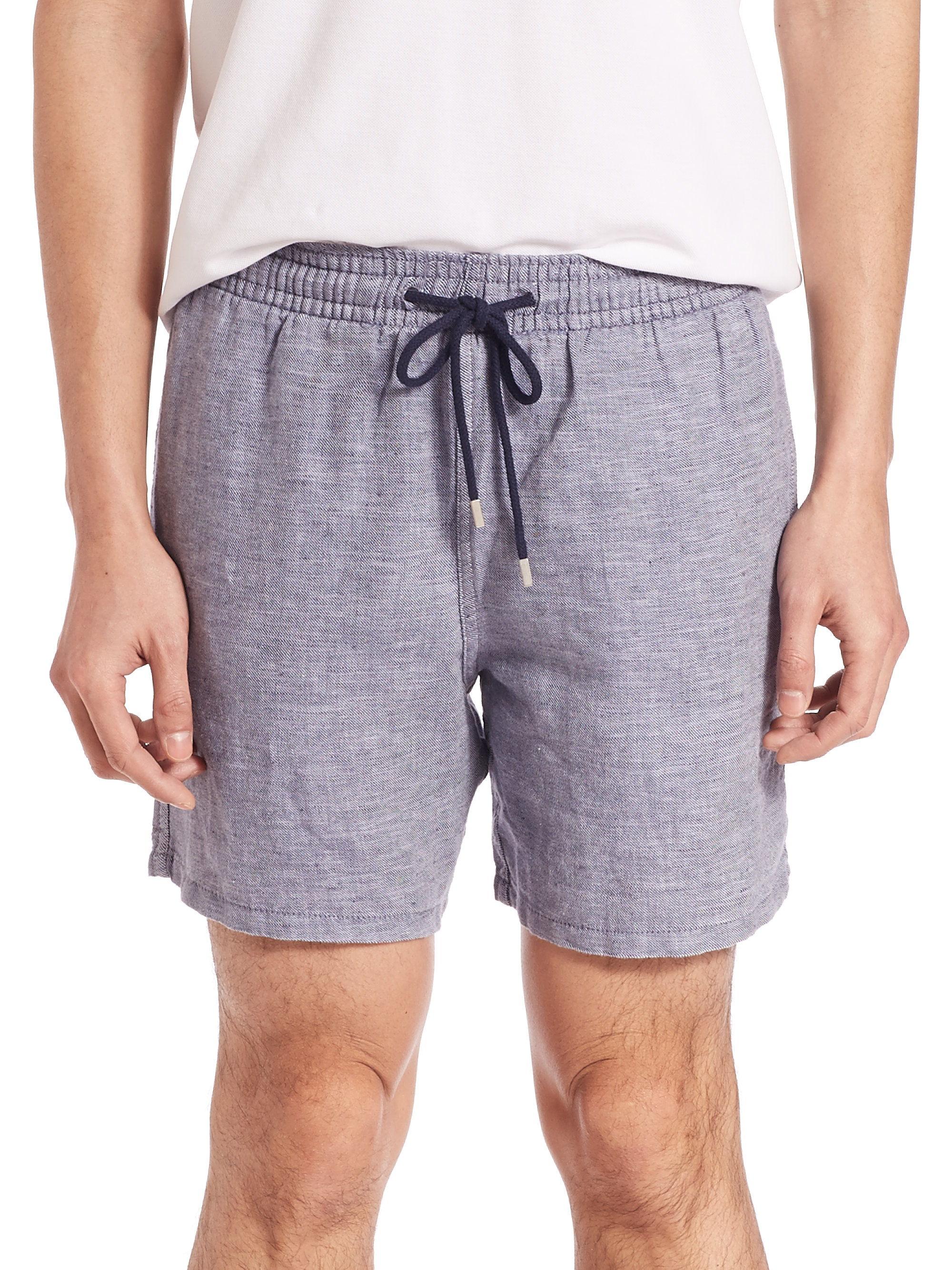 cdb12e6cbcc40 Lyst - Vilebrequin Bolide Linen Blend Shorts in Blue for Men