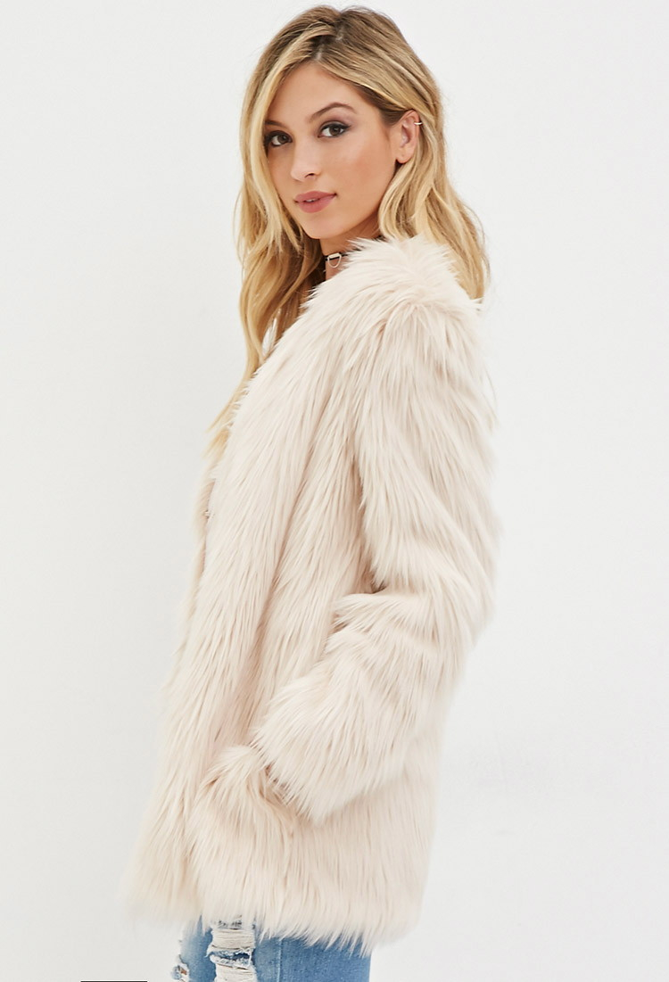 Lyst Forever 21 Faux Fur Coat In White