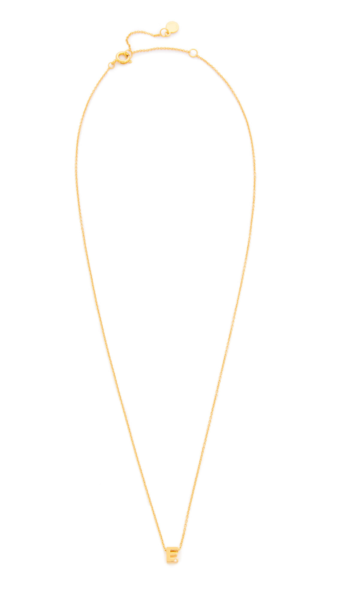 Lyst  Gorjana Shimmer Block Letter Necklace In Metallic