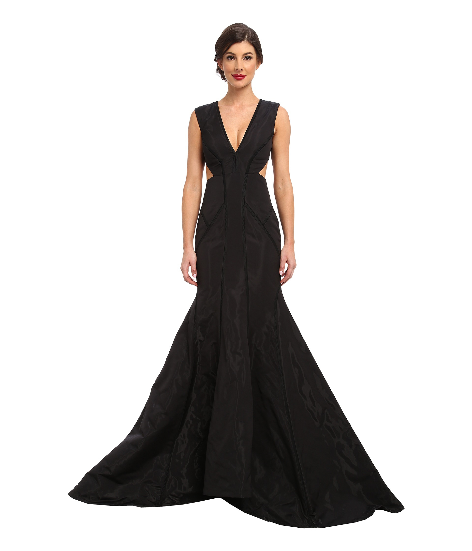 Lyst - Nicole Miller Liquid Vinyl Dress in Black