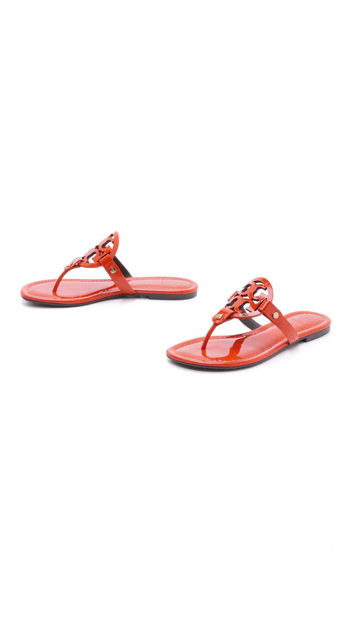 Lyst Tory Burch Miller Thong Sandals Electric Eel In