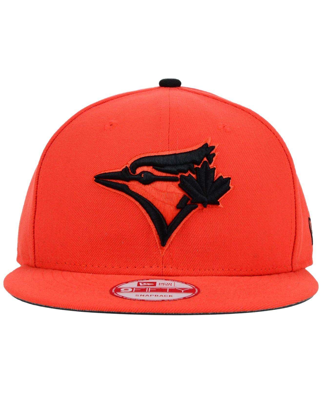 995f4852cbe ... order lyst ktz toronto blue jays snap dub 9fifty snapback cap in orange  c9081 40478