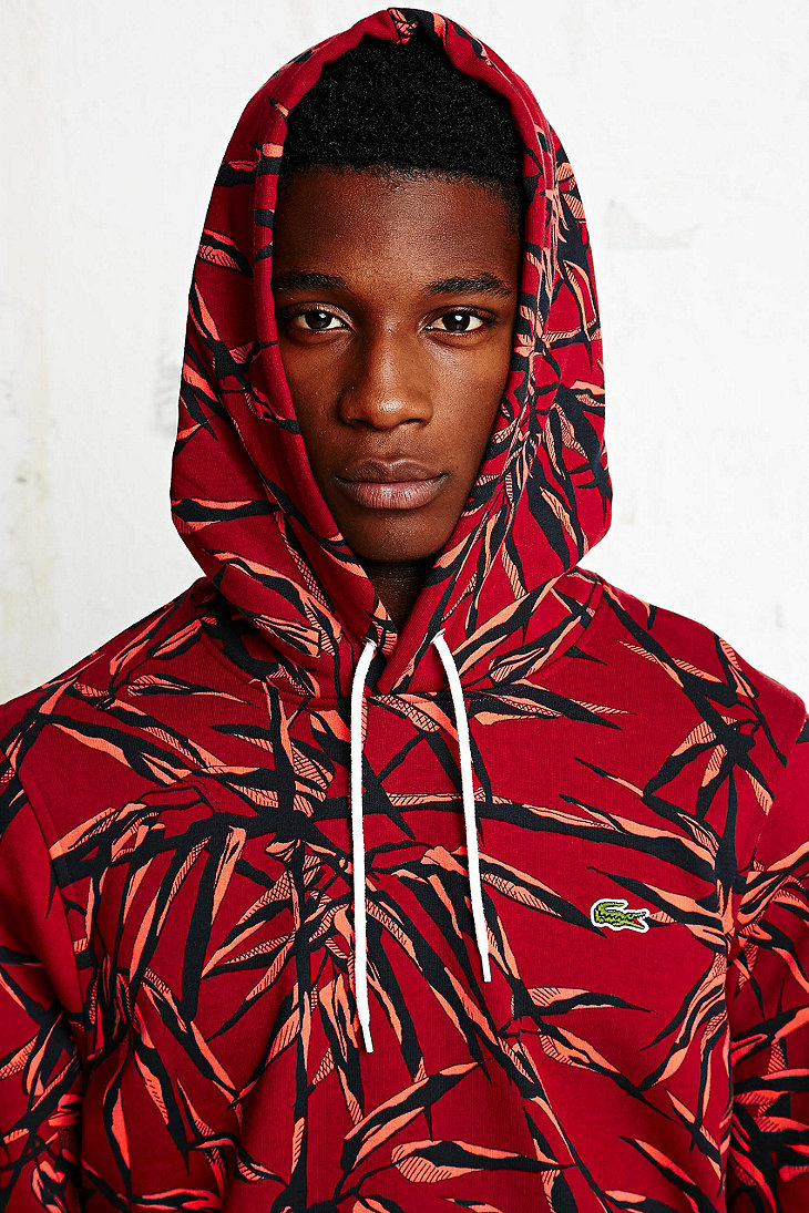 Men For Red Lyst Lacoste Print Hoodie L ive Floral In vZwa8qA0