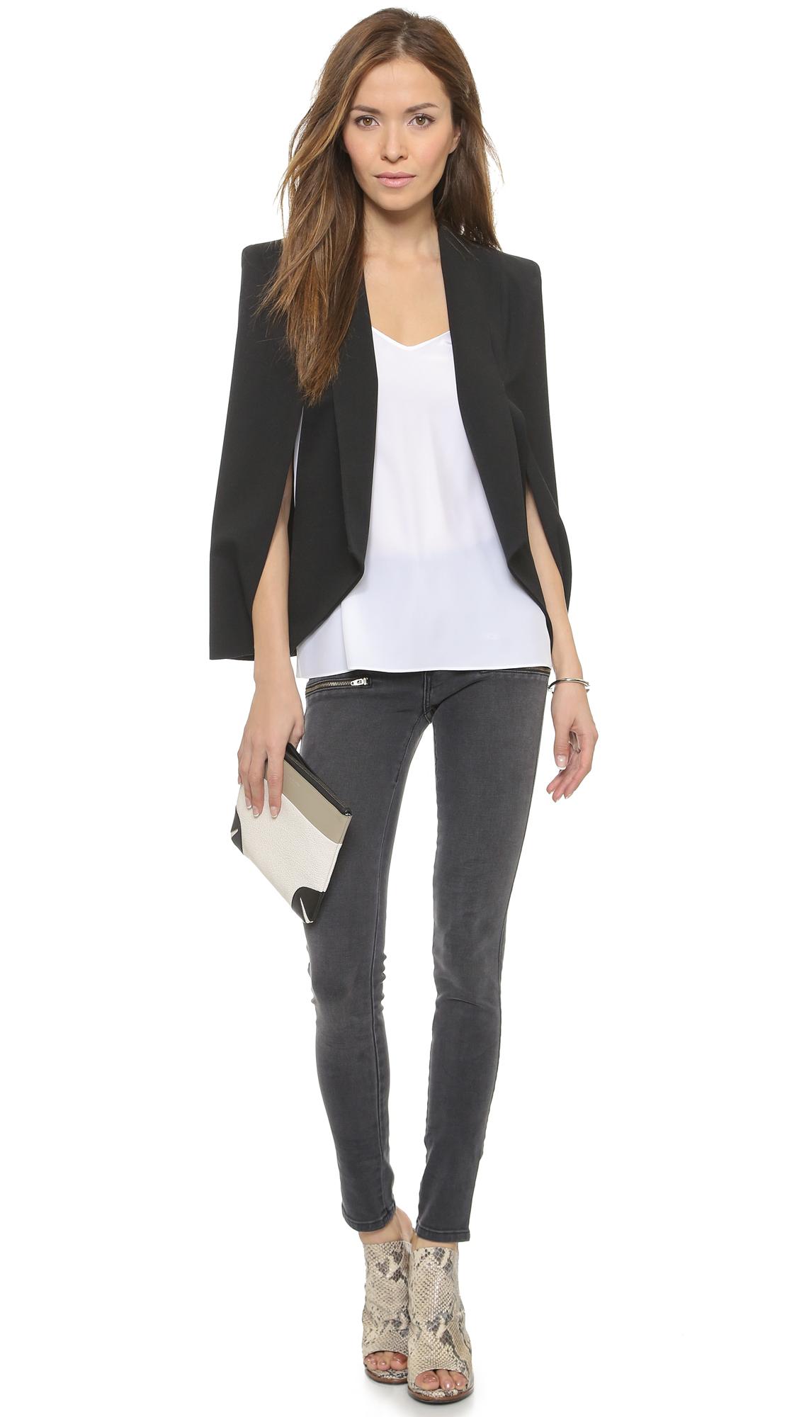 James jeans Blazer Cape in Black | Lyst