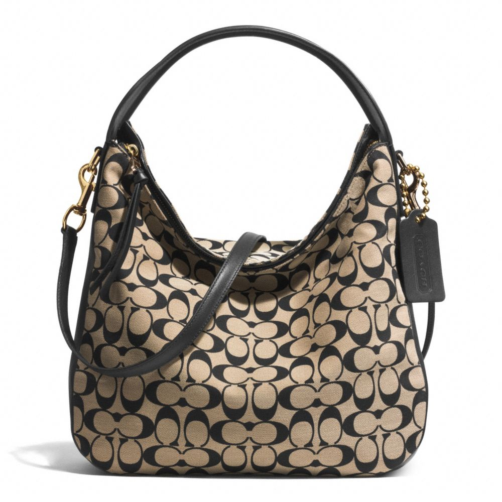 Coach Sullivan Hobo Bag In Printed Signature Fabric in Black | Lyst