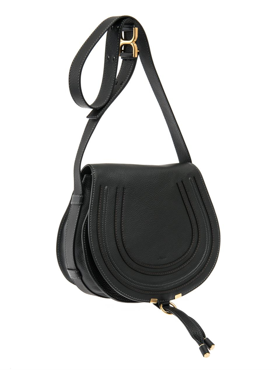 Chlo¨¦ Marcie Medium Crossbody Bag in Black | Lyst