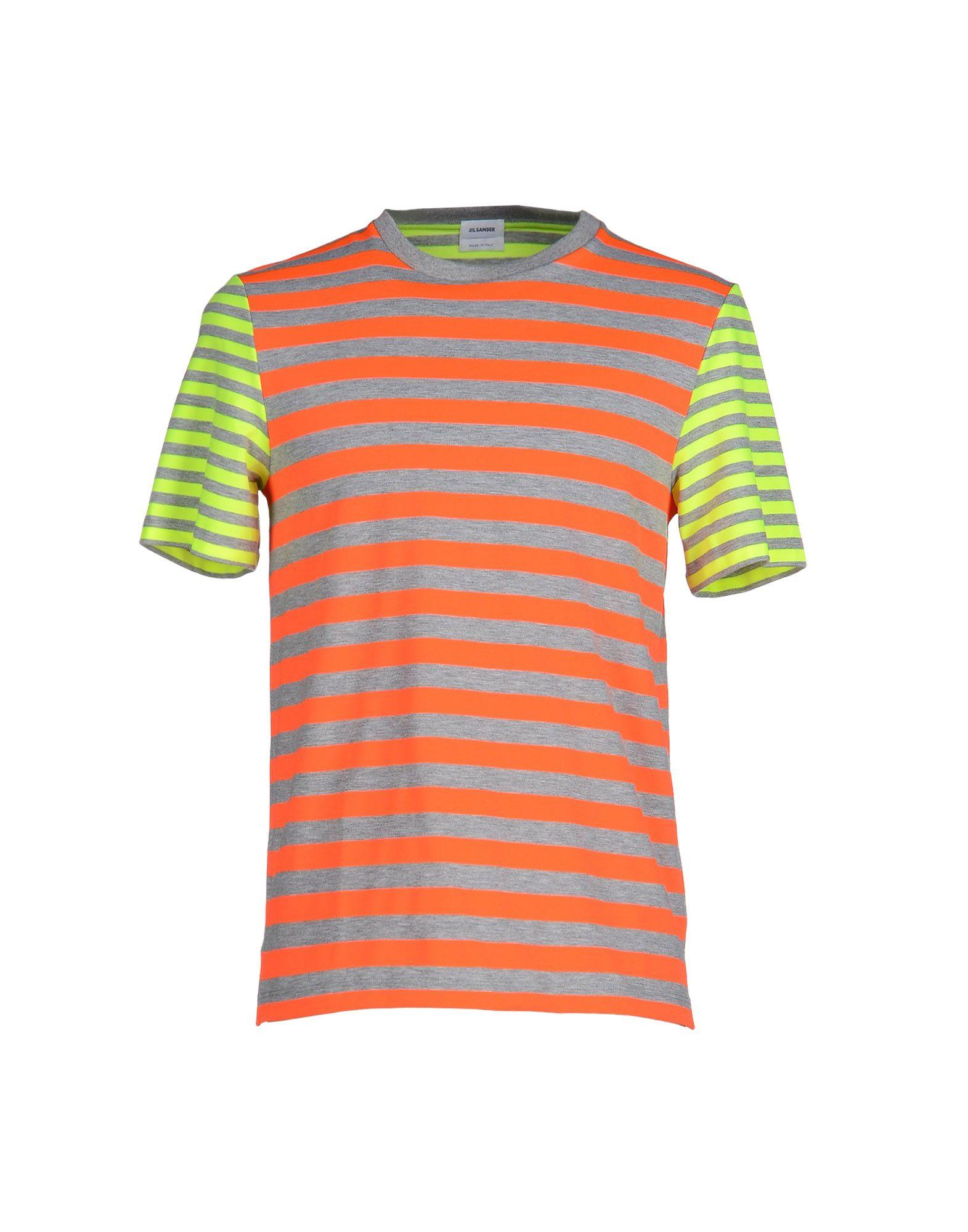 Lyst jil sander t shirt in orange for men for Jil sander mens shirt