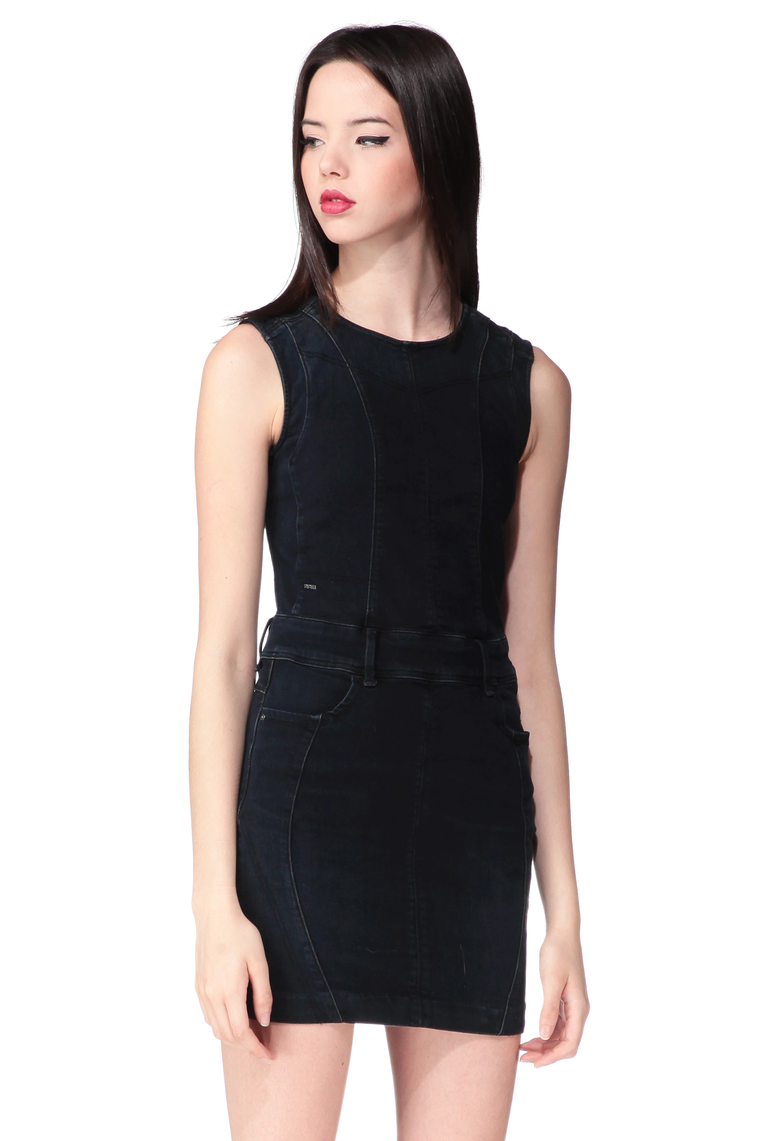 g star raw pencil dress in blue lyst. Black Bedroom Furniture Sets. Home Design Ideas