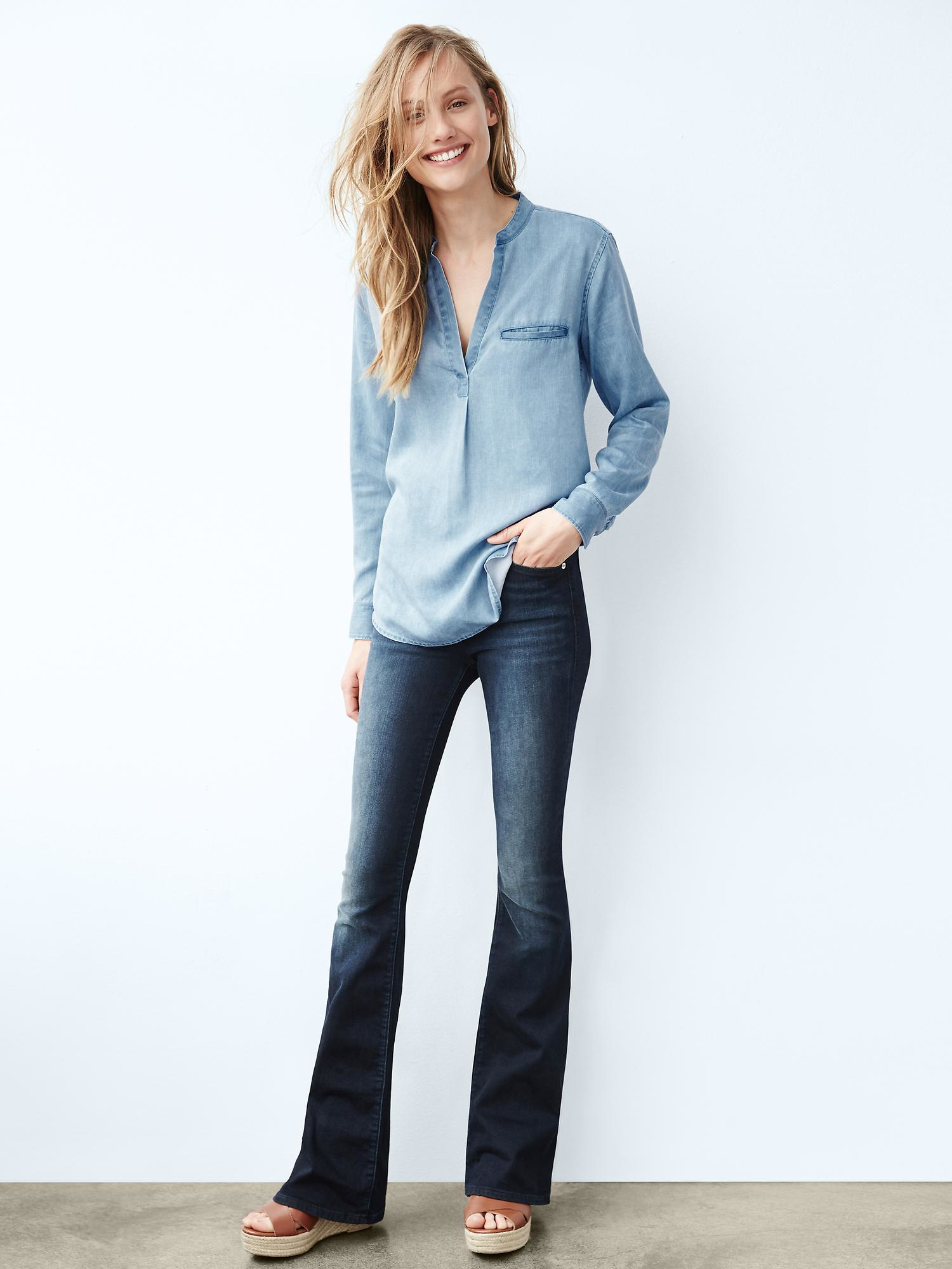 black skinny flare jeans - Jean Yu Beauty