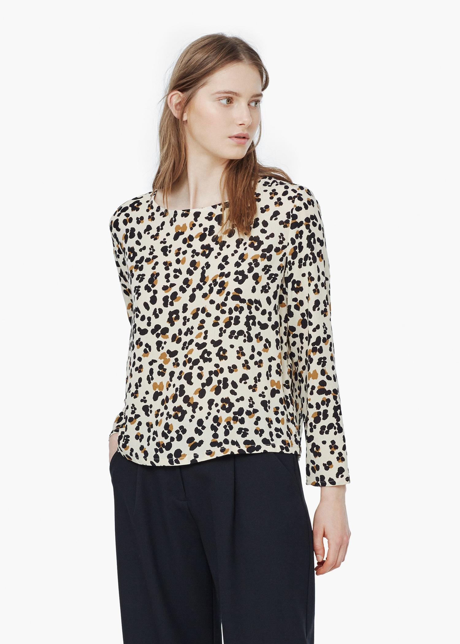 9dd619541649f4 Lyst - Mango Leopard Print Blouse