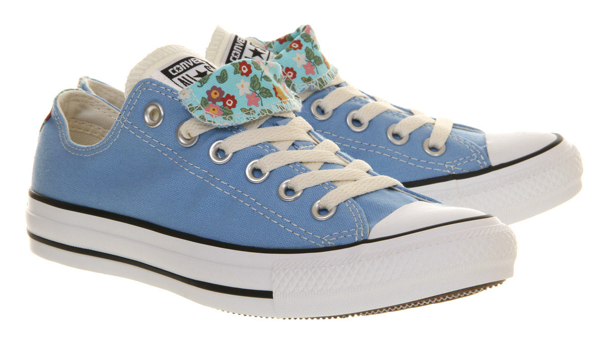 0e26080e47ac Lyst - Converse All Star Ox Low Double Tongue Caroline Blue Floral ...