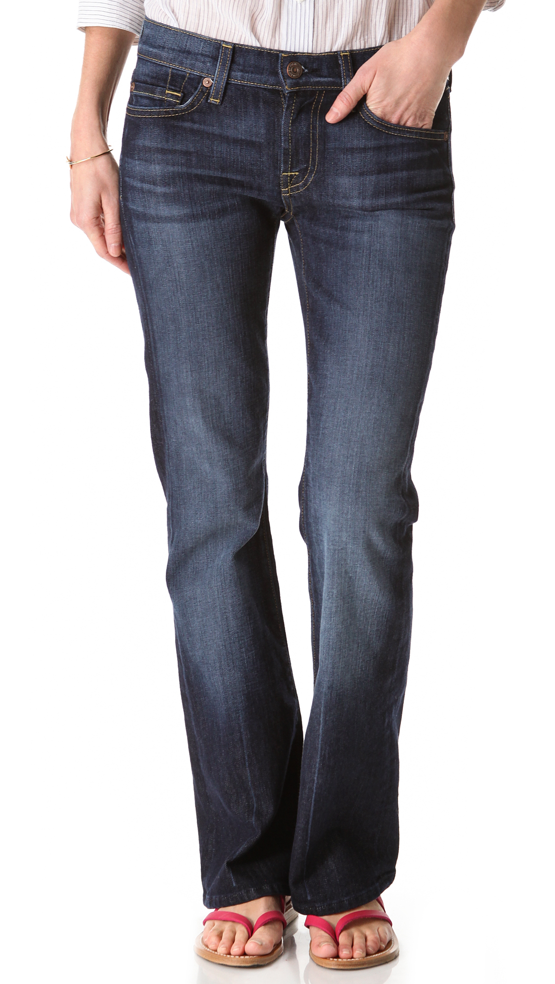 4bf3746d791ae Lyst - 7 For All Mankind Petite Boot Cut Jeans - Nouveau New York ...