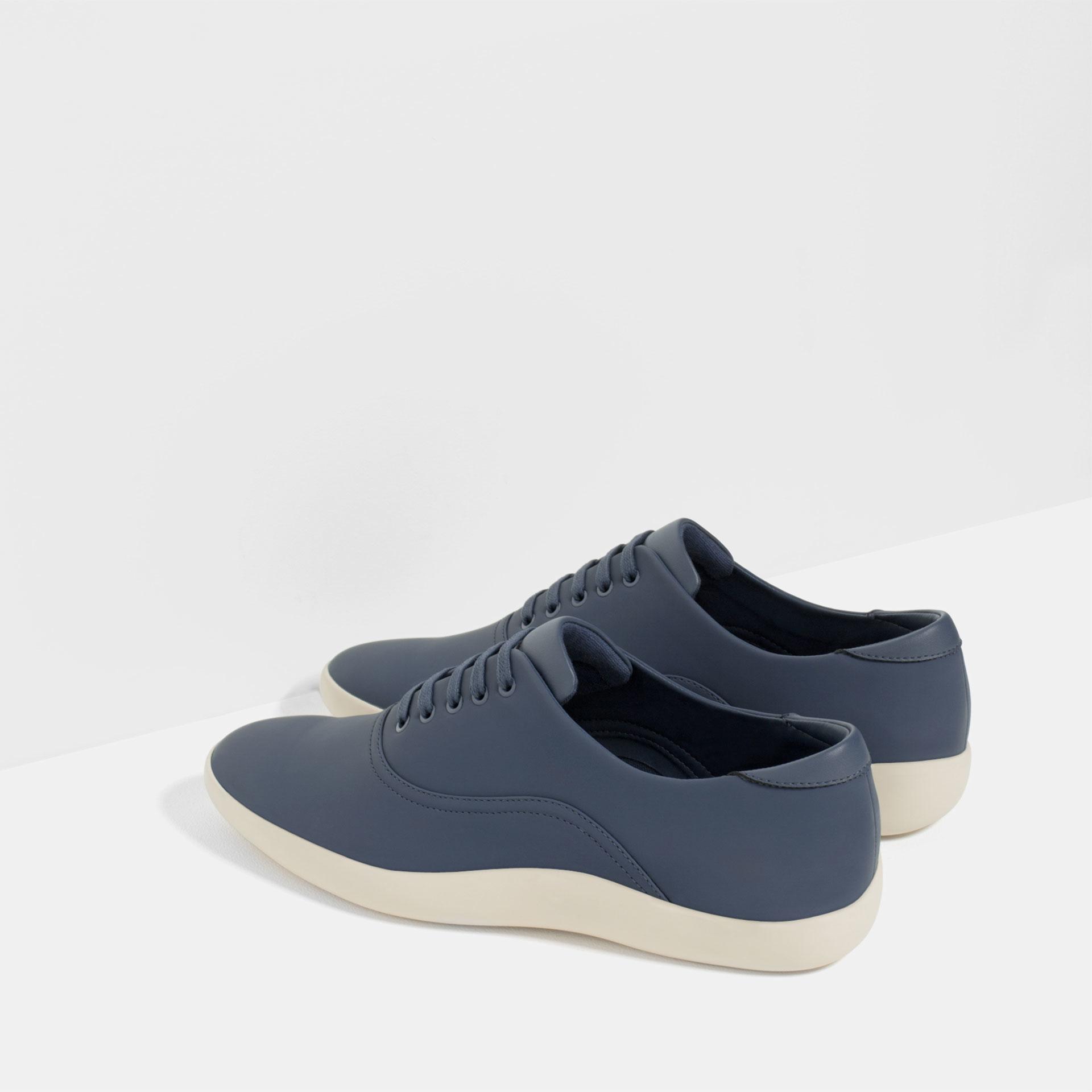 Man Cave Urban Zara : Zara urban sneakers in blue for men lyst