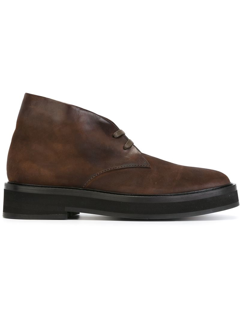 Lyst Paul Smith Lace Up Ankle Boots In Brown For Men