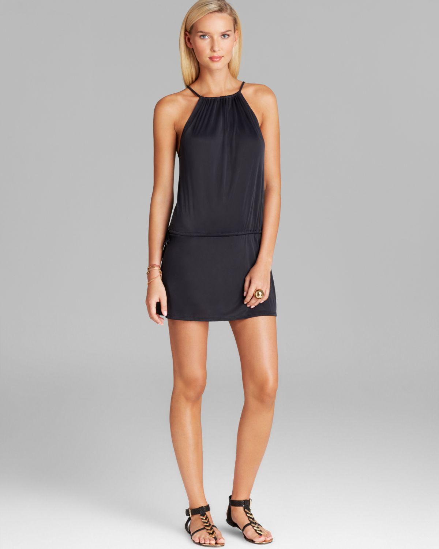 cf4b8a9739 Lyst - Cia.Marítima Jersey Drawstring Mini Dress Swim Cover Up in Black
