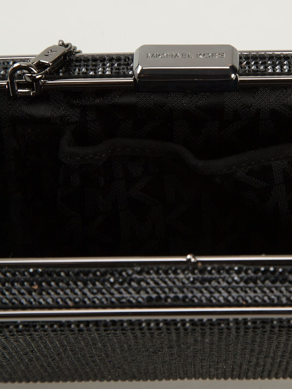 c0dbb8f61c64 Michael Michael Kors  Elsie  Crystal Embellished Box Clutch in Black ...