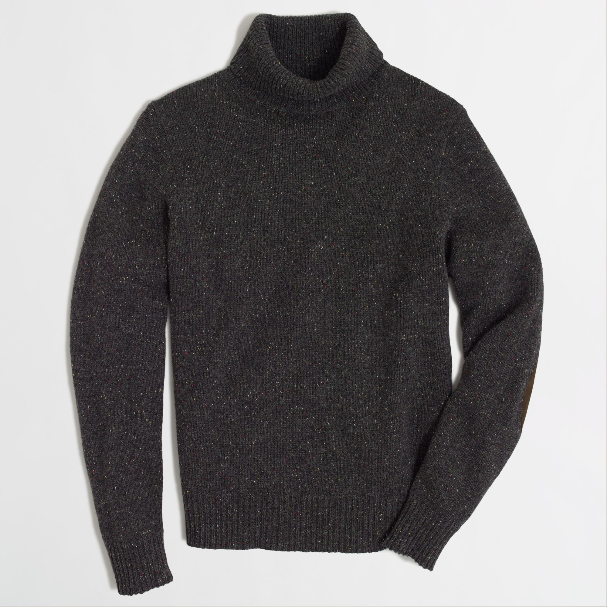 Donegal elbow patch sweater for men