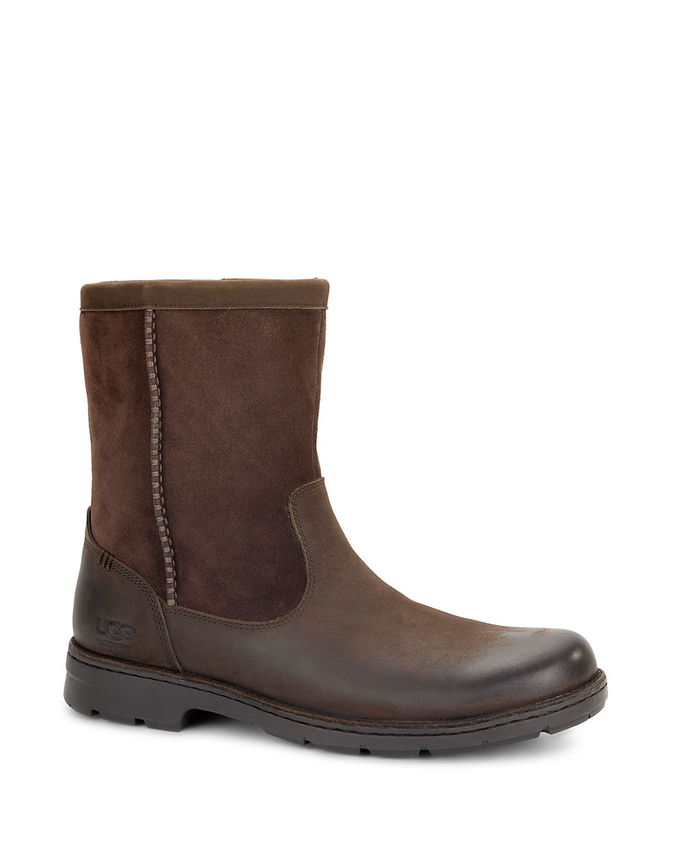 ugg foerster leather boots in brown for lyst