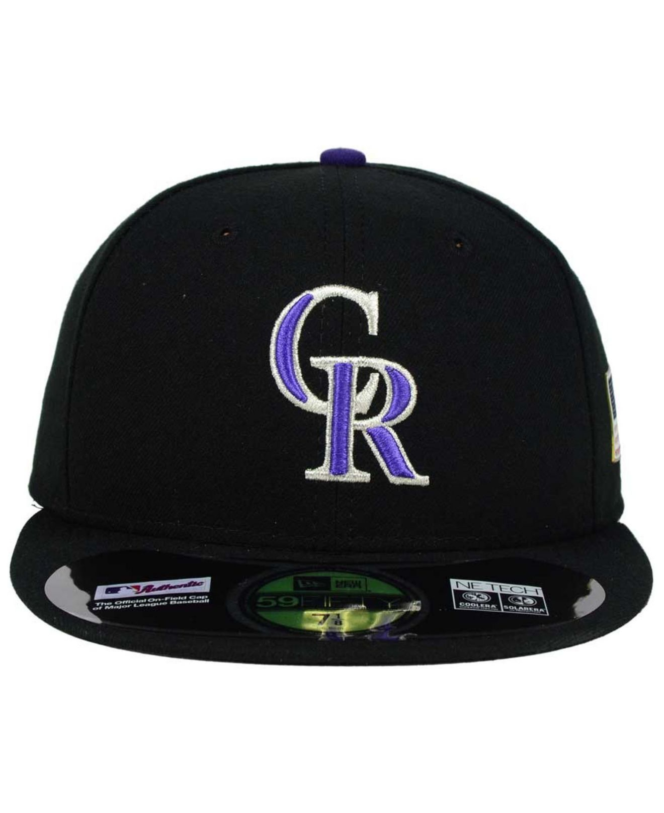 super popular abc97 e52af Lyst - KTZ Colorado Rockies Ac 9-11 Patch 59fifty Cap in Black for Men
