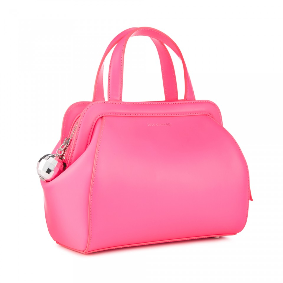 8c562f3e52 Lulu Guinness Neon Pink Polished Leather Small Paula in Pink - Lyst