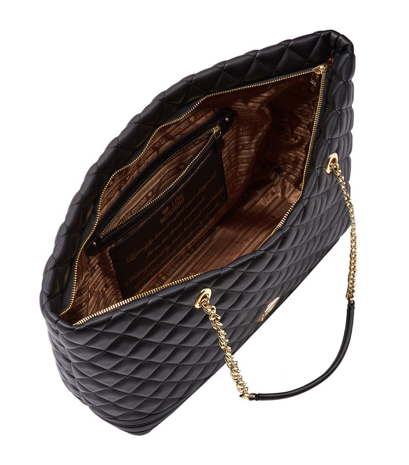 Love Moschino Taschen : love moschino large quilted shopper bag in black lyst ~ Watch28wear.com Haus und Dekorationen