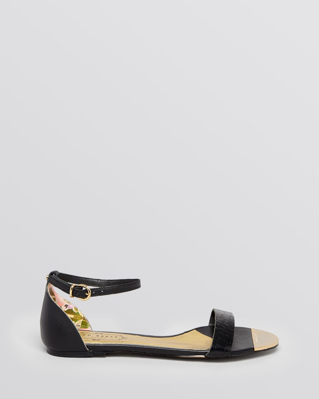 c03c7c3efc534 Lyst - Ted Baker Flat Sandals Ballena 2 in Black