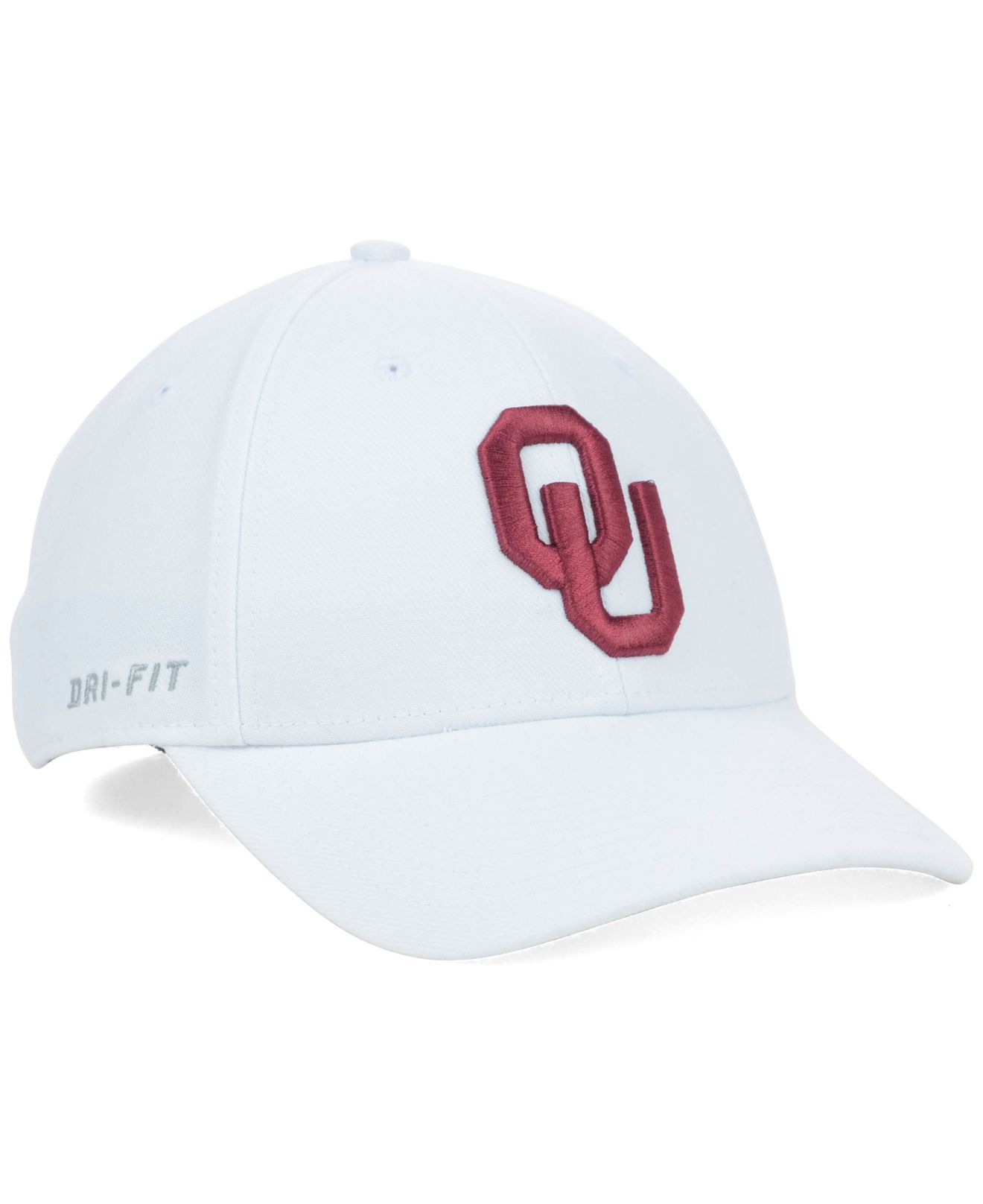 3c80b5420bbf ... discount lyst nike oklahoma sooners dri fit swooshflex cap in white for  men c33cf edb3c