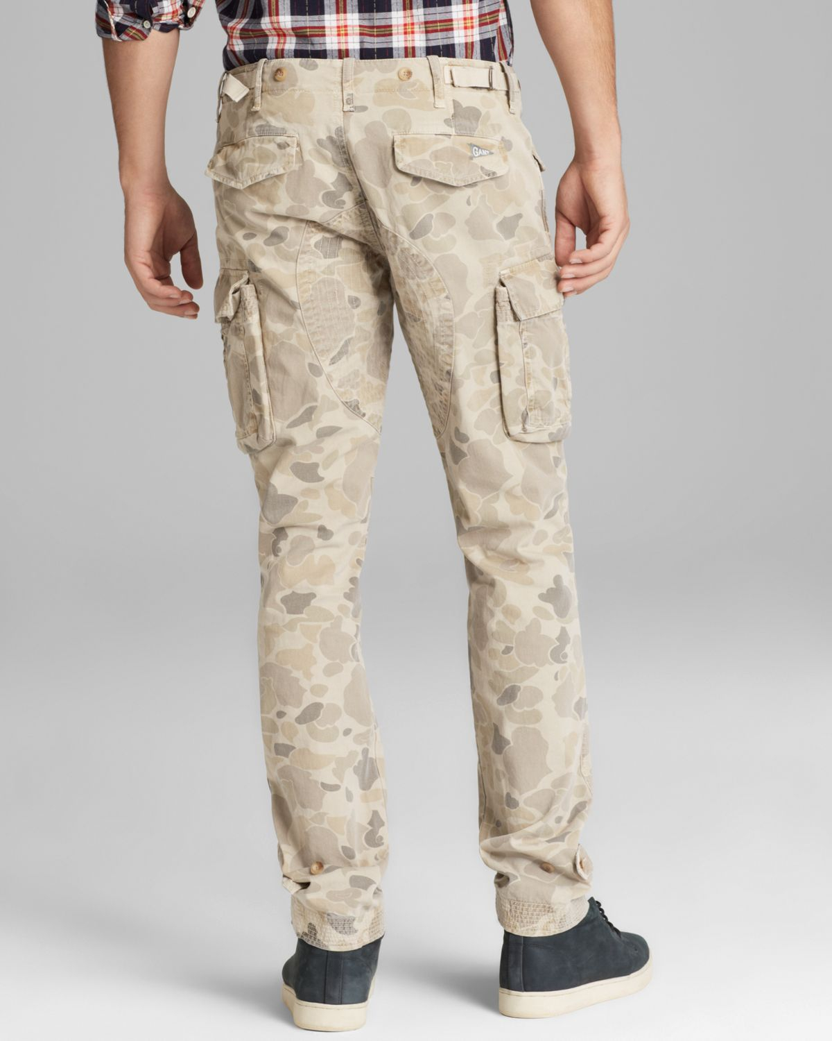 Gant Perfect Camo Cargo Pants - Slim Fit in Natural for Men | Lyst