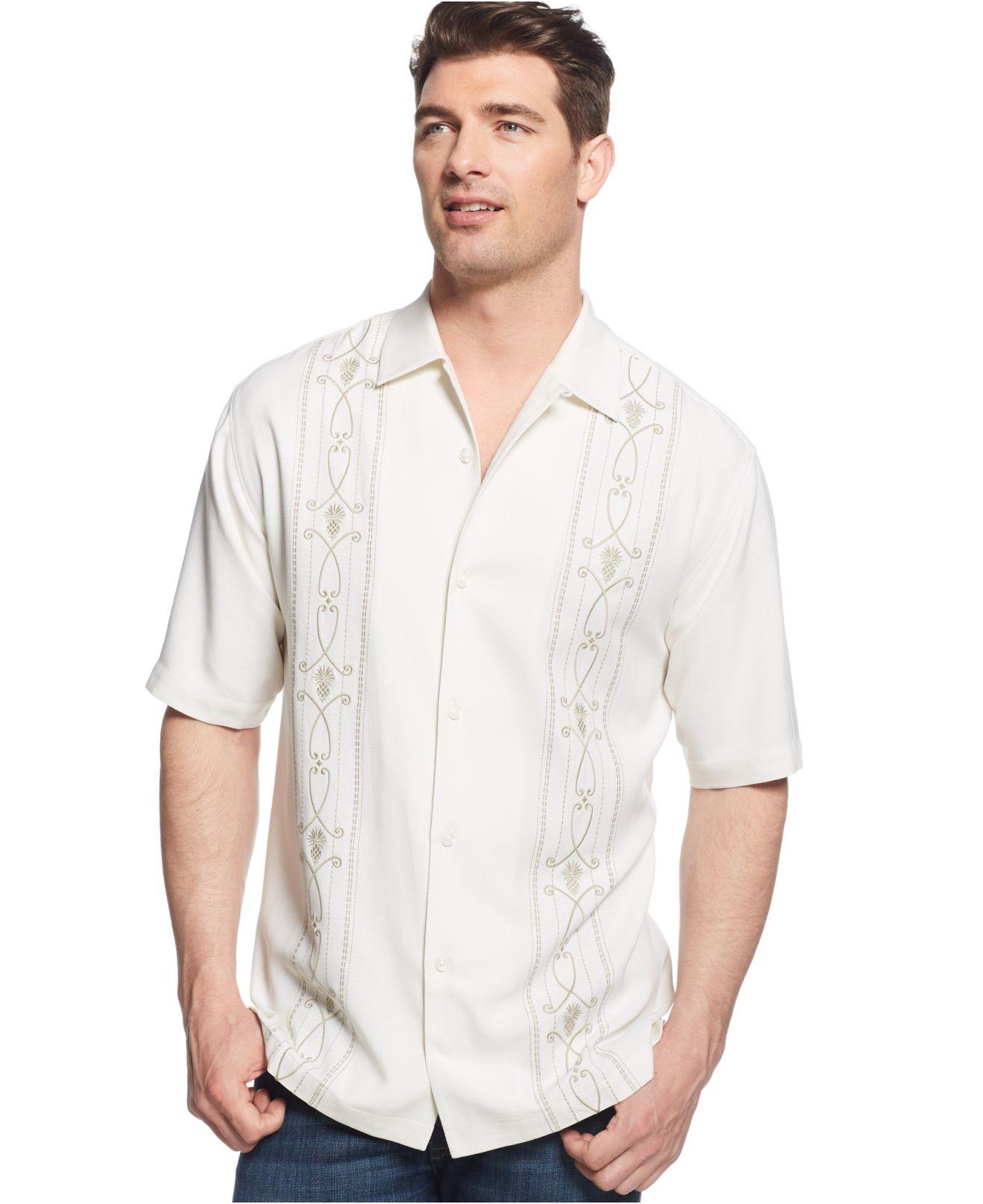 Lyst Tommy Bahama Macy 39 S Exclusive Pina Noir Silk Shirt