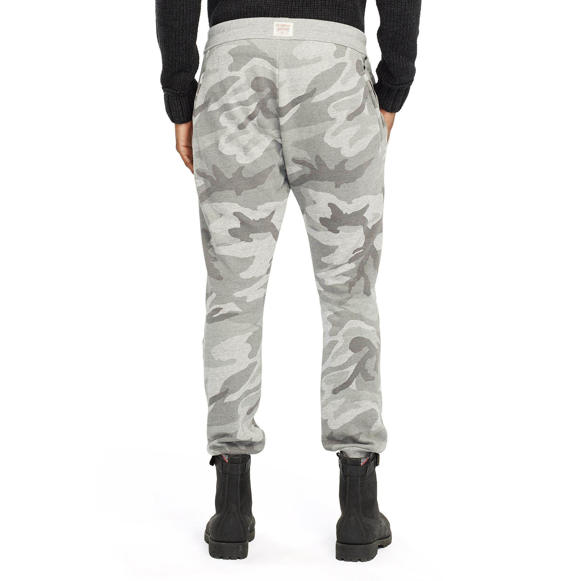 e87782da0d81a Denim & Supply Ralph Lauren Camo Fleece Jogger Pant in Gray for Men ...