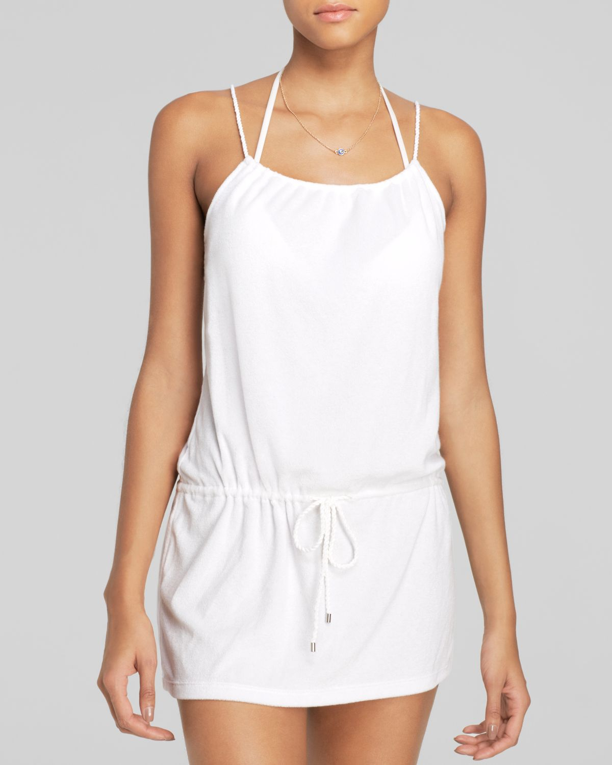 11d32164e5 Lyst - Ralph Lauren Polo Terrycloth Dress Swim Cover Up in White