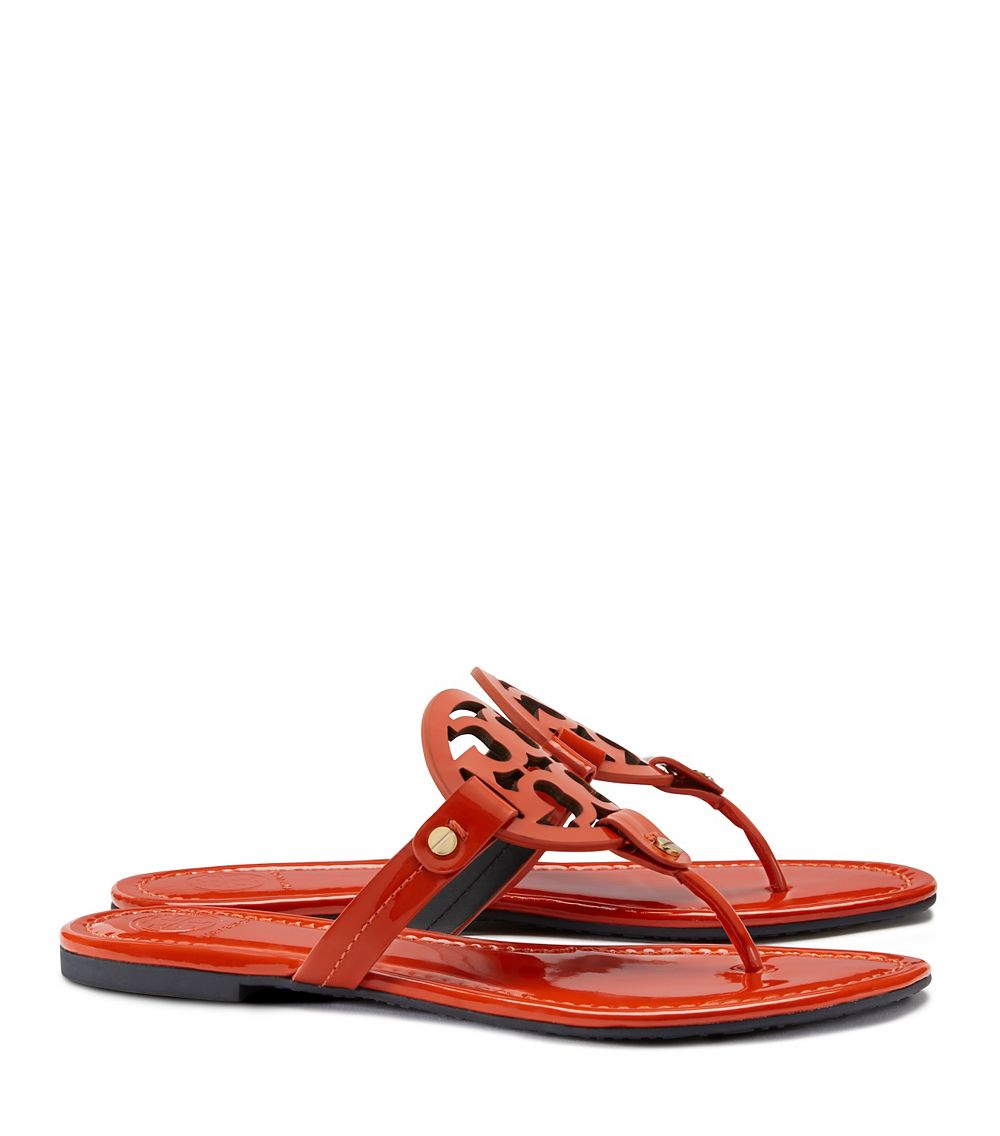 6697c8d34651e Lyst - Tory Burch Miller Patent Sandal in Orange