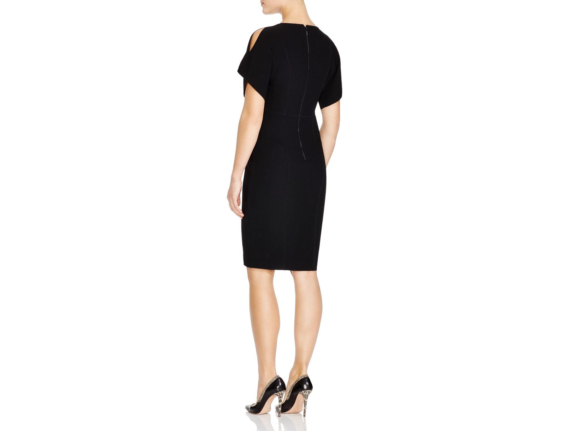 0873b0acf5aa Elie Tahari Lourdes Split Sleeve Dress in Black - Lyst