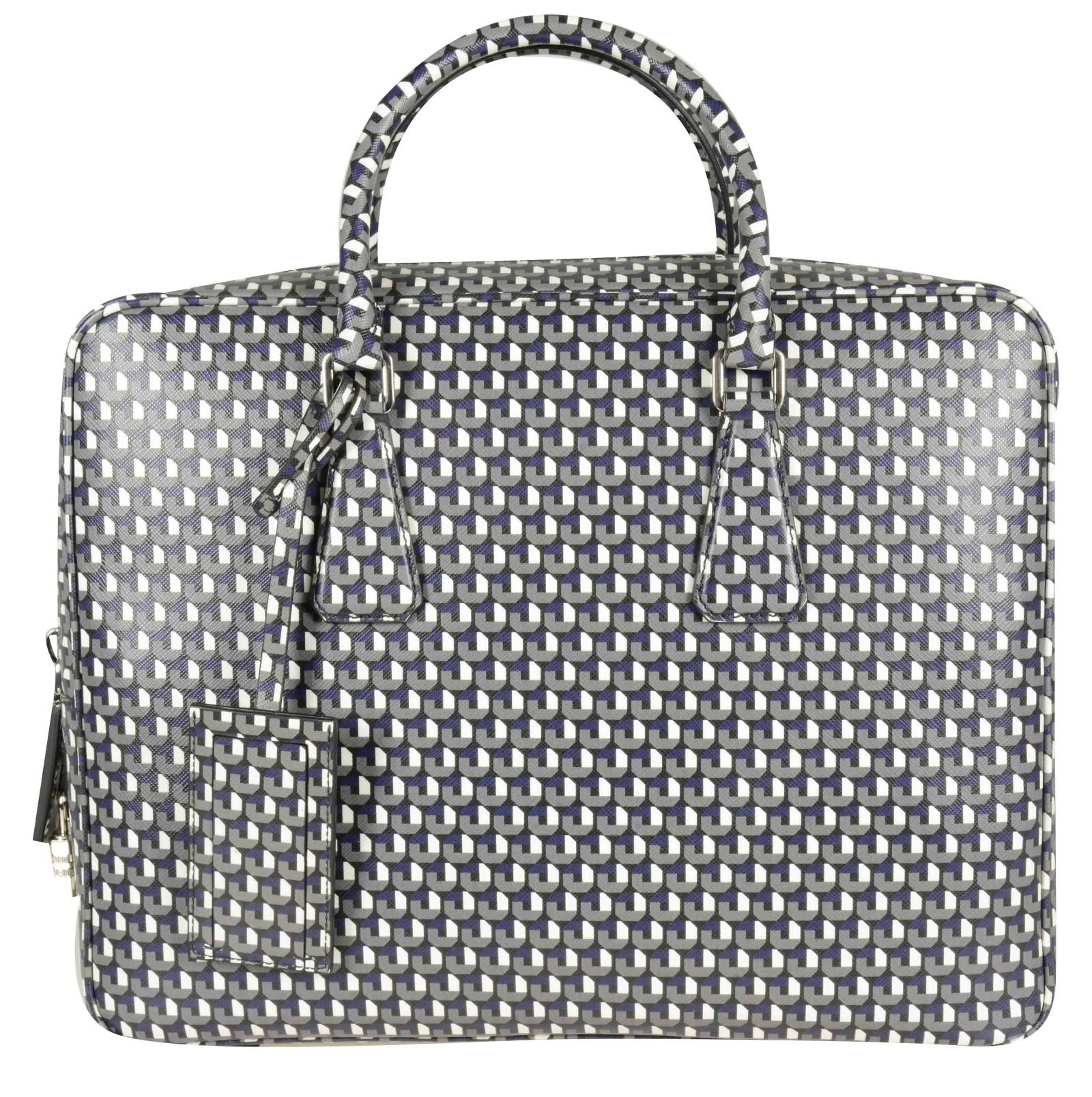 Borse A Tracolla Uomo Prada : Prada borsa tracolla nylon large leather tote