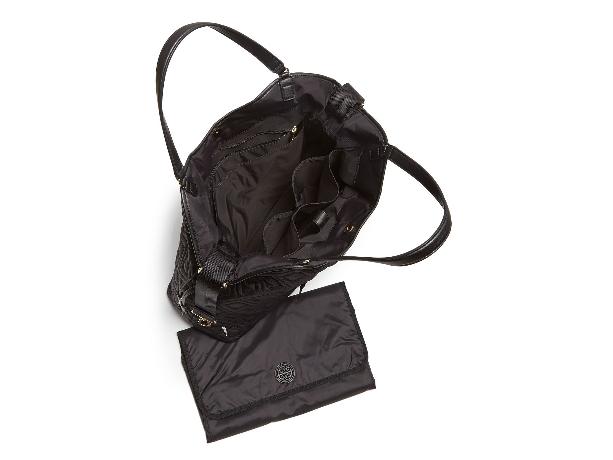 Lyst Tory Burch Diaper Bag Quilted Slouchy In Black