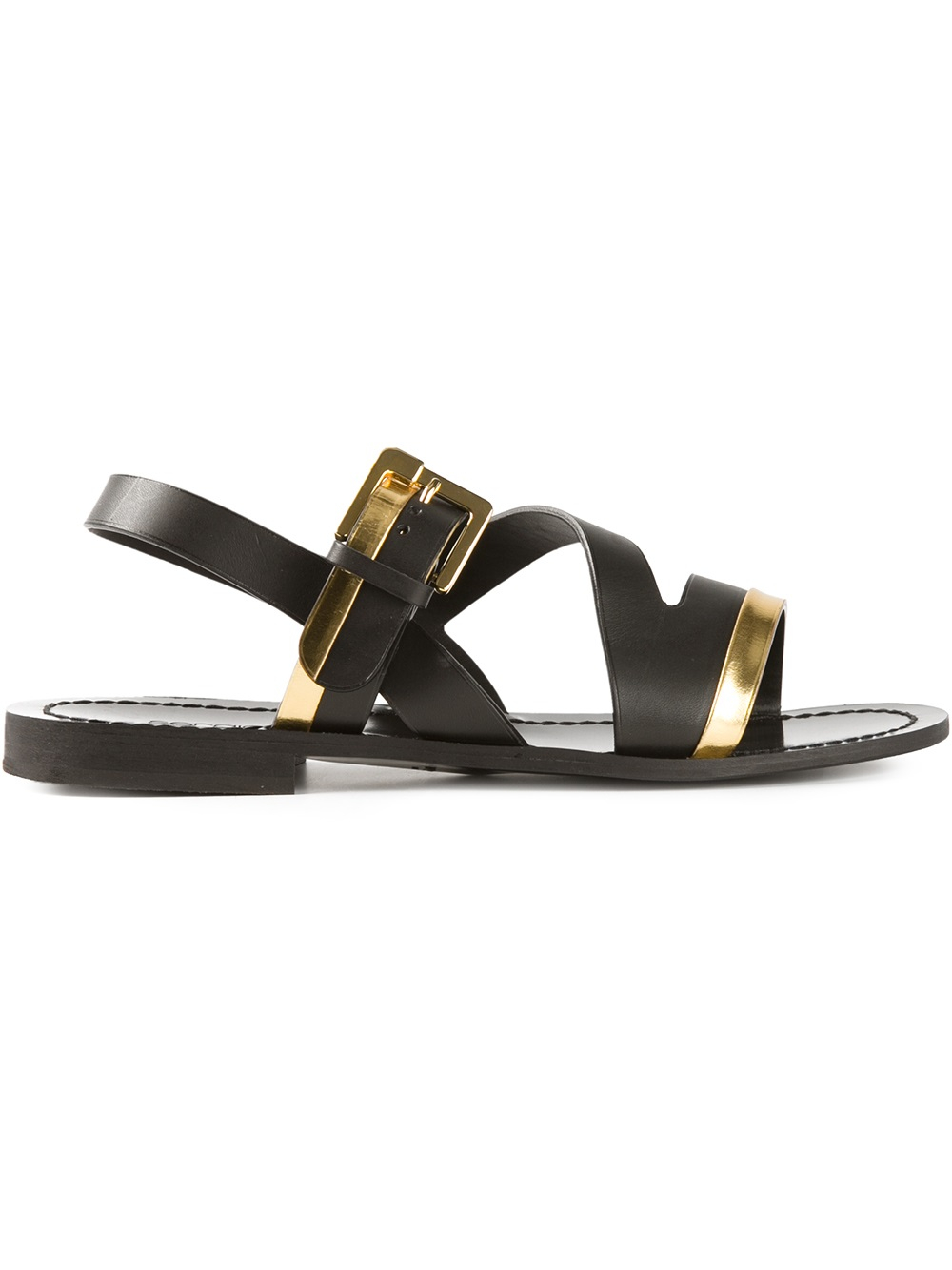 sergio rossi 39 z 39 sandals in black for men lyst. Black Bedroom Furniture Sets. Home Design Ideas